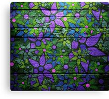 Trendy Floral Pattern Vintage Canvas Print