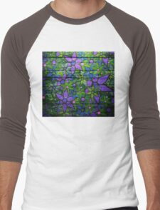 Trendy Floral Pattern Vintage Men's Baseball ¾ T-Shirt