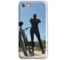 Black Zentai and Bike 4 iPhone Case/Skin