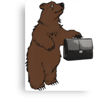 Go into business with a grizzly bear Canvas Print