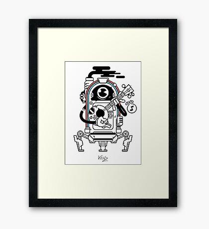 JukeBot Framed Print