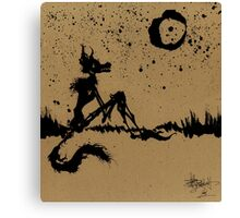 I Wish I Was The Moon Canvas Print