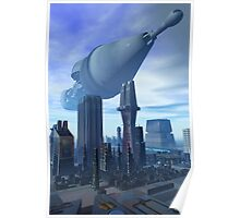 Giant Spacecraft Arival Poster