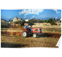 Maltese Farmer at Work Poster