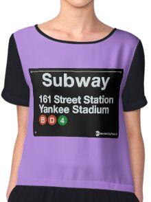 Yankees Subway Sign Chiffon Top