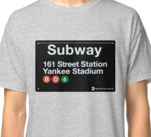 Yankees Subway Sign Classic T-Shirt