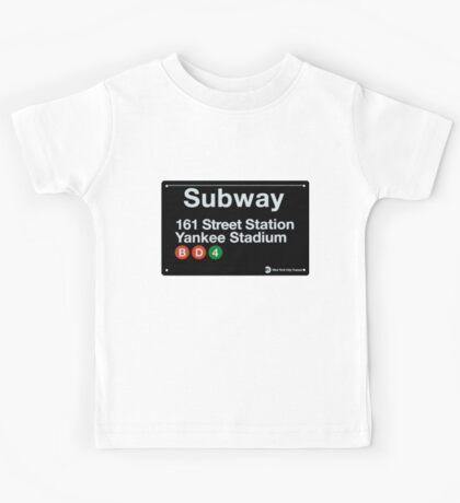 Yankees Subway Sign Kids Tee