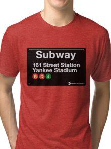 Yankees Subway Sign Tri-blend T-Shirt