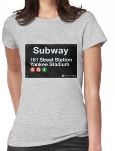 Yankees Subway Sign Womens Fitted T-Shirt