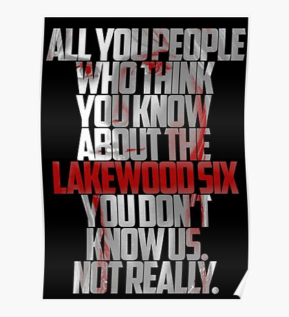 Brooke Maddox MTV Scream (black & white) Poster