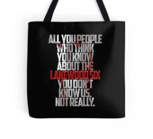 Brooke Maddox MTV Scream (black & white) Tote Bag