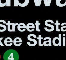 Yankees Subway Sign Sticker
