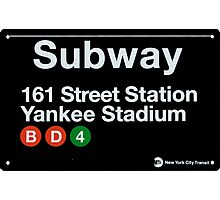 Yankees Subway Sign Photographic Print