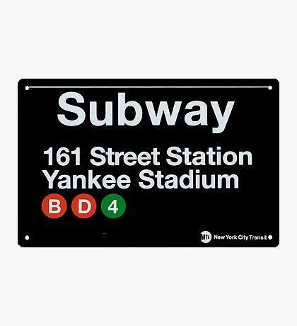 Yankees Subway Sign Photographic Print