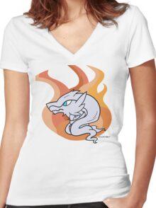 Reshiram - Legendary Pokemon Women's Fitted V-Neck T-Shirt