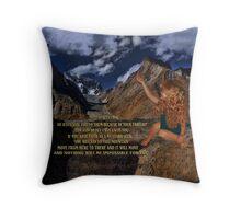 ❦ ❧A MUSTARD SEED MOVES MOUNTAINS -BIBLICAL TEXT THROW PILLOW❦ ❧ Throw Pillow