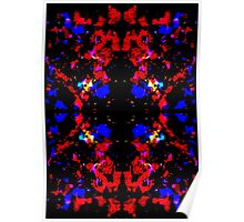 Red Blue Tribal Poster