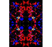 Red Blue Tribal Photographic Print