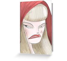 Angry Red. Greeting Card