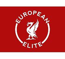 European Elite - Liverpool FC - White Photographic Print