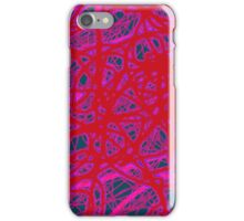 Red neon iPhone Case/Skin