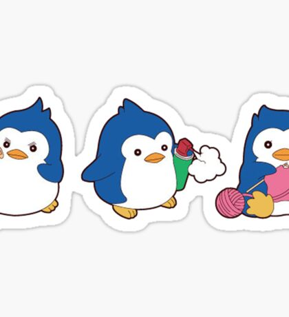 penguin trio Sticker
