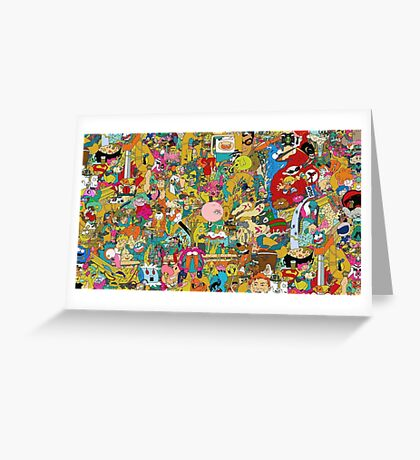 Collection of cartoons  Greeting Card