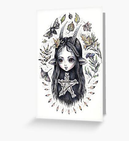 Autumn Imp Greeting Card