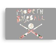 Modern Baseball // Floral  Canvas Print