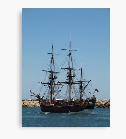 Tall Ship in Fremantle Canvas Print