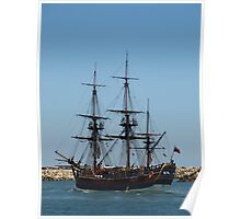 Tall Ship in Fremantle Poster