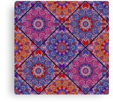 Square Boho Tiles from Flower Mandala Canvas Print