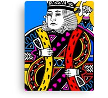 KING OF HEARTS-COLOURS Canvas Print