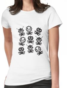 Old School Monster Gear Womens Fitted T-Shirt