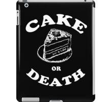 Cake or Death iPad Case/Skin
