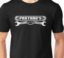 Pantrho's Parts and Service (white) Unisex T-Shirt