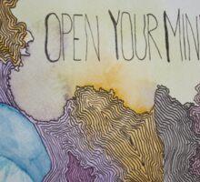 Open Your Mind Sticker