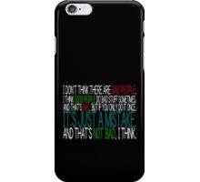 [White] Just A Mistake iPhone Case/Skin