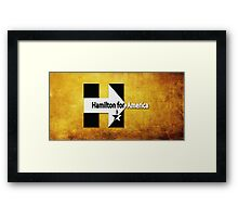 Never gon' be President now - Bumblebee Framed Print