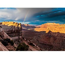 Shafer Canyon Rainbow Photographic Print