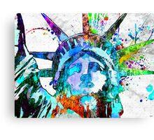 Statue of Liberty Grunge Canvas Print