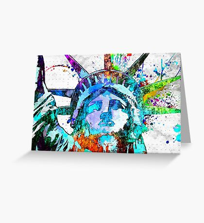 Statue of Liberty Grunge Greeting Card