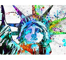 Statue of Liberty Grunge Photographic Print