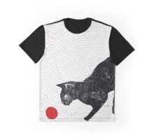 playing cat Graphic T-Shirt