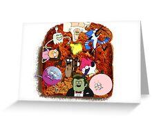 balanced breakfast Greeting Card