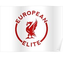 European Elite - Liverpool FC - Red Poster