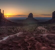 Dawn at Monument Valley by TomGreenPhotos