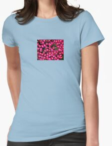 Little Pink Flowers Womens Fitted T-Shirt
