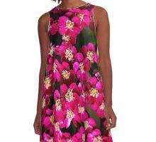 Little Pink Flowers A-Line Dress