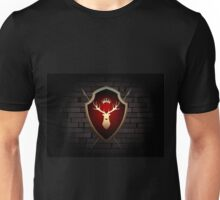 Deer Shield with Torches on the Wall Unisex T-Shirt